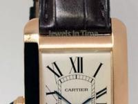 Cartier RARE LEFT HANDED American Tank 18k Rose Gold