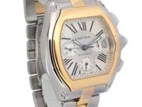 Cartier Roadster Chronograph 18K Gold & Steel Automatic