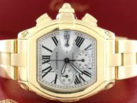 Cartier Roadster Chronograph 18K Yellow Gold Automatic