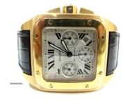 Offered for sale is an Cartier santos XL chronograph