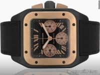 Features Chronograph Case Details 55mm x 47mm - DLC/PVD