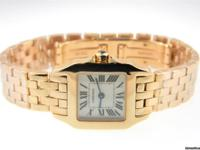 Genuine pre-owned Cartier Santos Demoiselle solid 18K