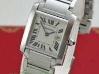 Cartier Stainless Steel Mid-Size Tank Francaise. 30mm x
