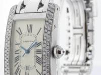 Cartier Tank Americaine 18k White Gold & Diamonds Watch