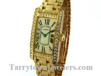 LadiesNew Cartier 18K Yellow gold Tank Americaine,