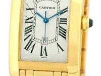 "Gent's 18K Yellow Gold Cartier ""Tank Americaine"""