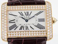 Cartier Tank Divan Large in 18k Yellow Gold Watch for
