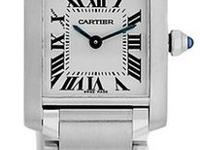 "Lady's Stainless Steel Cartier ""Tank Francaise"""