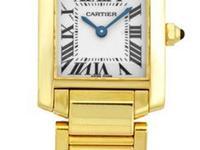 "Lady's 18K Yellow Gold Cartier ""Tank Francaise""."