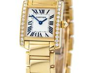 New ladies Cartier 18K Yellow gold Tank Francaise Ref#