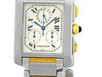 Gent's Stainless Steel & 18K Yellow Gold Cartier