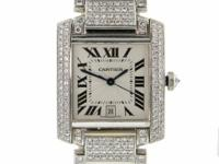 Genuine pre-owned Cartier Tank Francaise in solid 18K