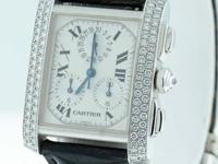 Previously owned Cartier Tank Francaise Chronoflex