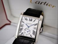 This is a stainless steel Cartier Tank MC, W5330003. It