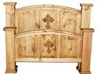 RUSTIC BED, SOLID WOOD-QUEEN OR KING SIZE, IT INCLUDES