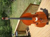 Hand Carved Upright Bass Testore copy 3/4 size