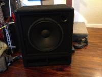 "Brand brand-new 15"" Carvin bass cabinet. This speaker"