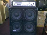 Practically brand new Carvin BX600 and Avatar 4x10 cab