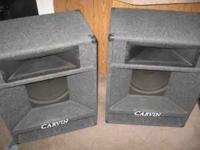 SET OF CARVIN 15 INCH SPEAKERS WITH HORNS, EXCELLENT