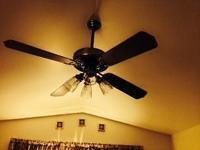Casablanca 52 inch ceiling fan with light. Medium color