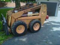 UP FOR SALE CASE 1840 SKID STEER WITH BUCKET DIESEL