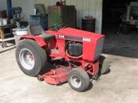 """Case 446 Tractor , 16hp , 16"""" rear wheels, belly mower,"""