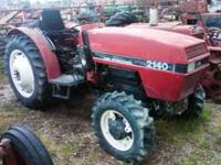 Case 2140 4x4 diesel tractor for parts or rebuild. Has