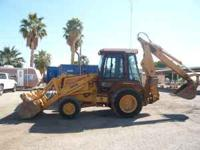 1990 Case 580K backhoe; 5,000 hrs; cab w/heater; 4x4; 4
