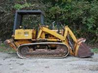 Case 850 track loader with ripper, rebuilt track