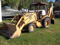 CASE BACKHOE 580 SUPER K. EXTEND A HOE. 4 X 4 ASKING