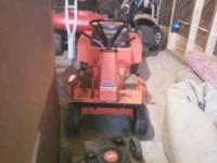 Hello I have for sale a case riding mower. It is an