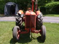 I'm selling a rare 1952 case model D tractor, It has a