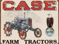 "Case Tractor - CC High 16""W x 12.5""H Tin Signs NEW"