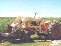 Case 510b gas loader tractor with Eagle Hitch kept in