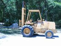 CASE 585E 4X4 FORKLIFT, 5000.LB LIFT 21FT REACH, WITH