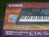 Casico Keyboard with STAND & STOOL----With ac adapter &