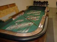 Craps Table from Las Vegas Casino with new felt top.