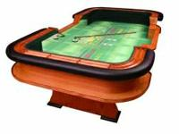 CRAPS TABLE WITH PADDED REMOVABLE ARMREST AND CUSTOM