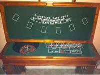 Like new hardly used casino table includes Blackjack