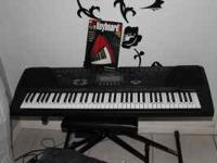 Selling Keyboard with a stand, stool and foot pedal. I