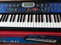 Selling a Casio CTK-411 keyboard. Includes 49 standard
