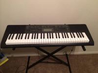 I have a Casio CTK-2080 with 61 lightly weighted keys