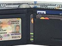 A SLIM WALLET: 4 1/8 in. X 3 1/8 in. X 1/2 in.,