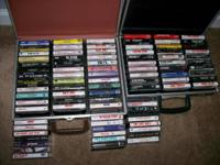 88 cassette tapes and 2 case holders. $75 for