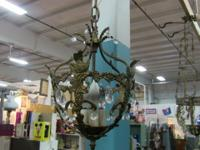 Beautiful light, includes switch and chain. Measures