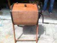 Wood burning parlor stove. Cast iron with lots of fancy