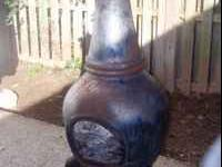 Cast iron chiminea for sale. Very heavy - you will need