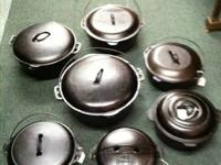 Cast iron Dutch ovens for sale. Lots of brands to pick