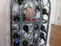 Cast Iron Wine Rack, hand-crafted (very heavy).