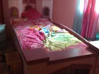 Handmade solid wood castle bed for your princess to